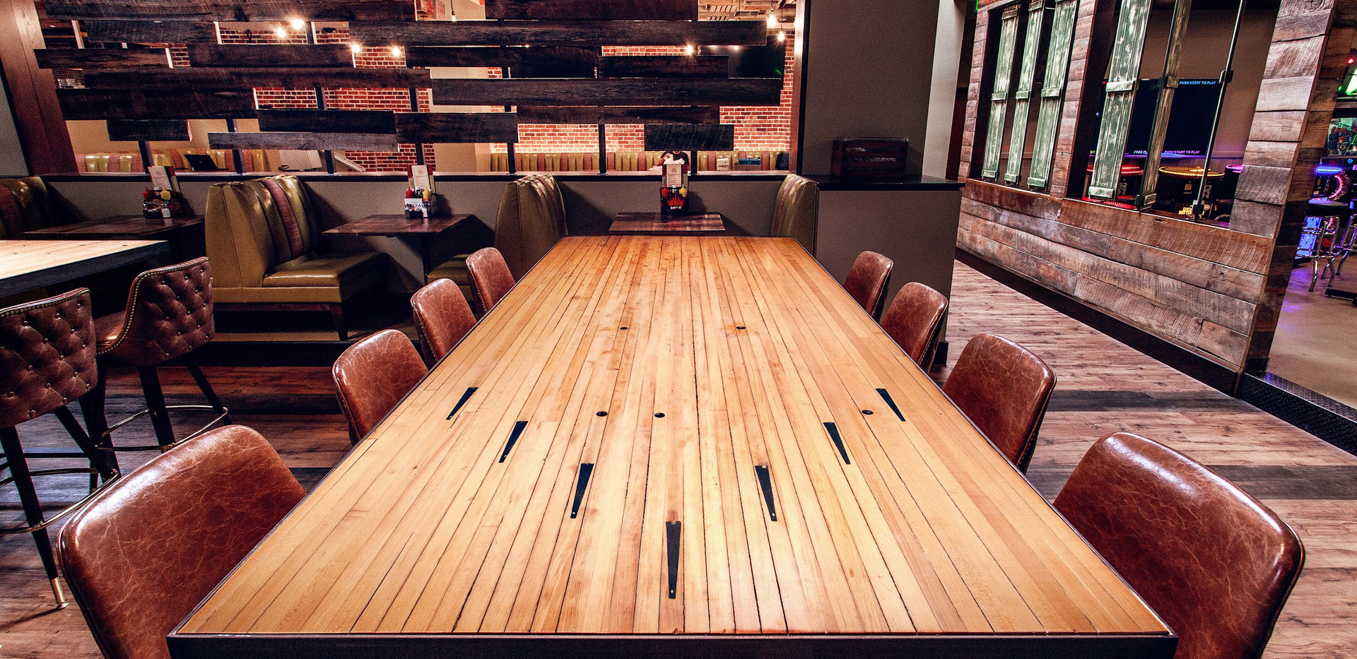 Custom Bowling Alley Table