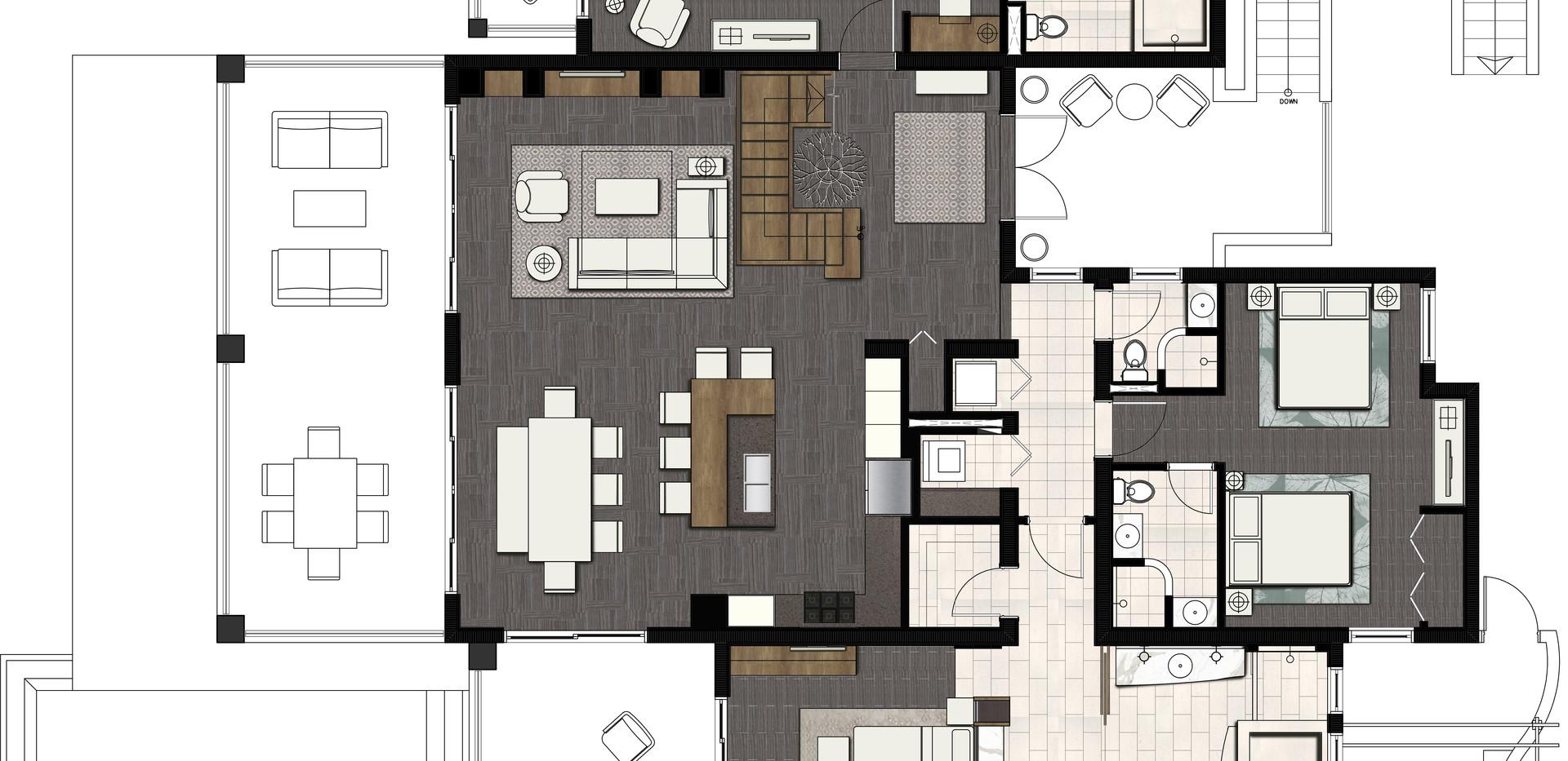 New Villas Three Bedroom Plan