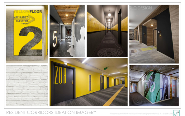 Resident Corridors Ideation Imagery