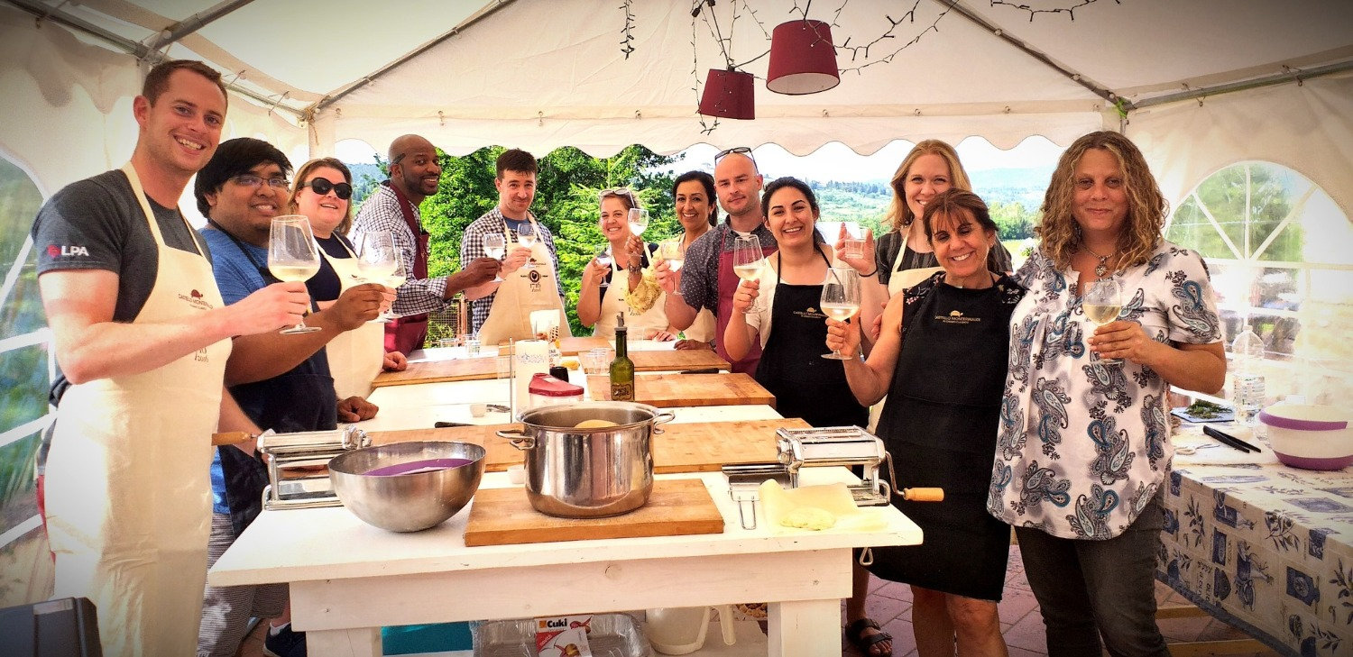 we do the cooking class in my garden