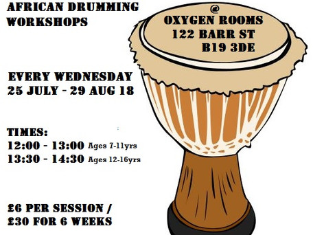 New! Summer Drum Club starting 25th July 2018