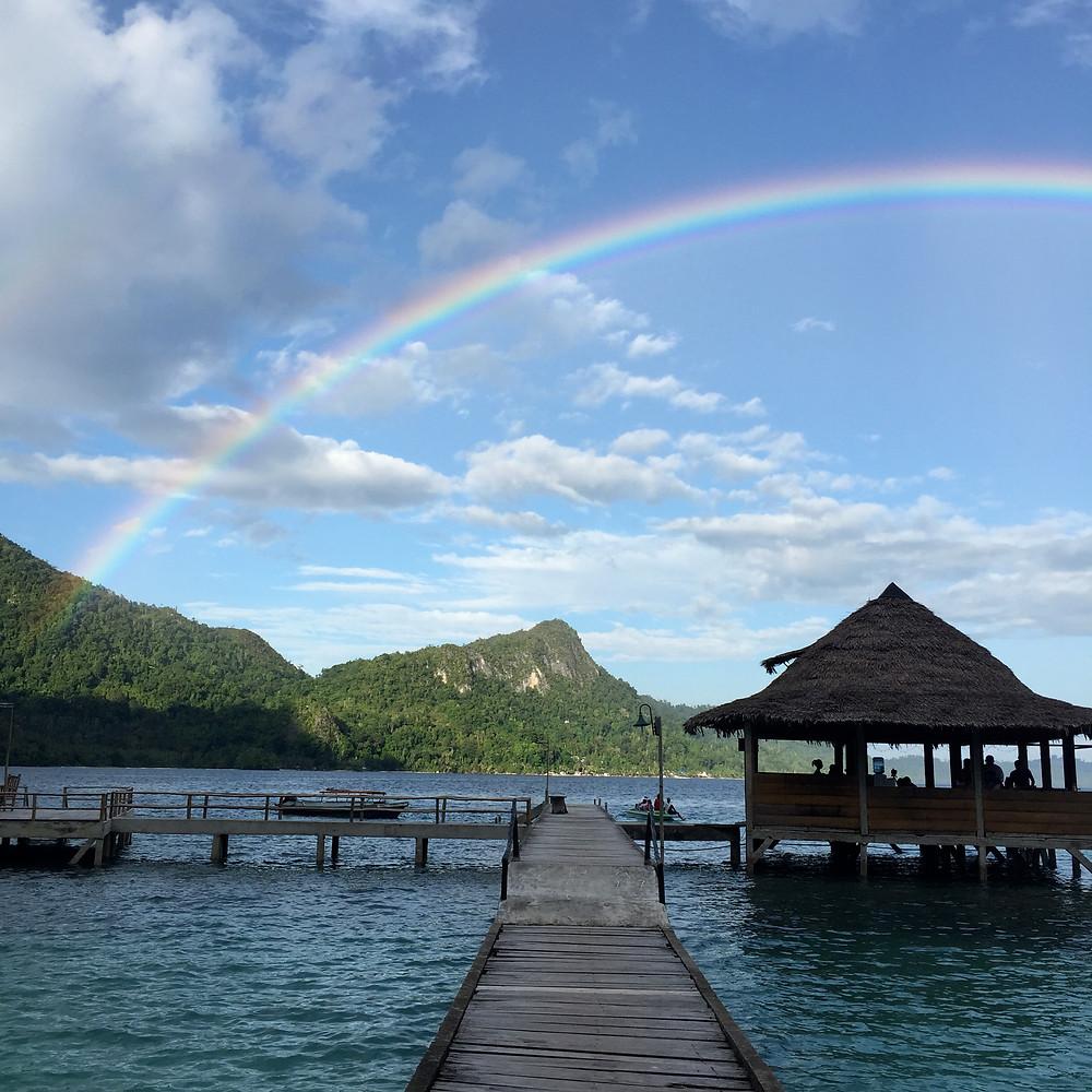 rainbow at Ora Beach