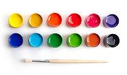 Paint Pots y Brush