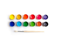 Paint Pots and Brush