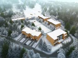 Hameau-hiver