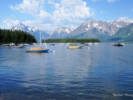 Boats and the Grand Tetons