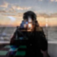 Selfportrait on Lampedusa ship, 2015