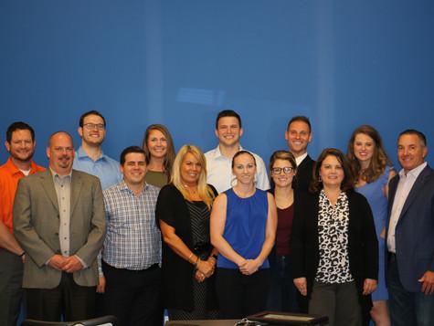 12 New Sales Representatives receive Achievement Certificates