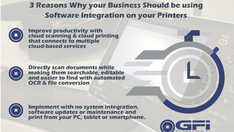 Why should your business be using     Multi-function Printers with Software Integration?