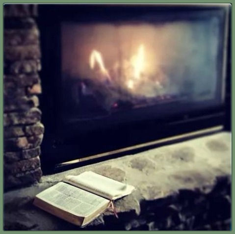 Bible by the fire