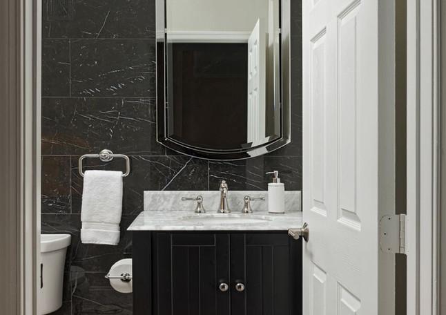 Pristine Marble Powder Room