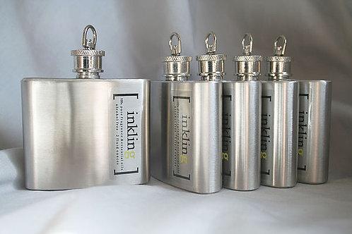 set 6 steel flasks- Bridesmaids or Groomsmen gifts