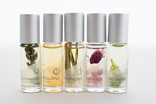 Set of 5 Earth Notes - small roll-on bottles