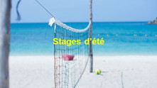 Inscriptions Stages d'Été