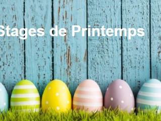 Stages de Printemps    (COMPLETS !!!)