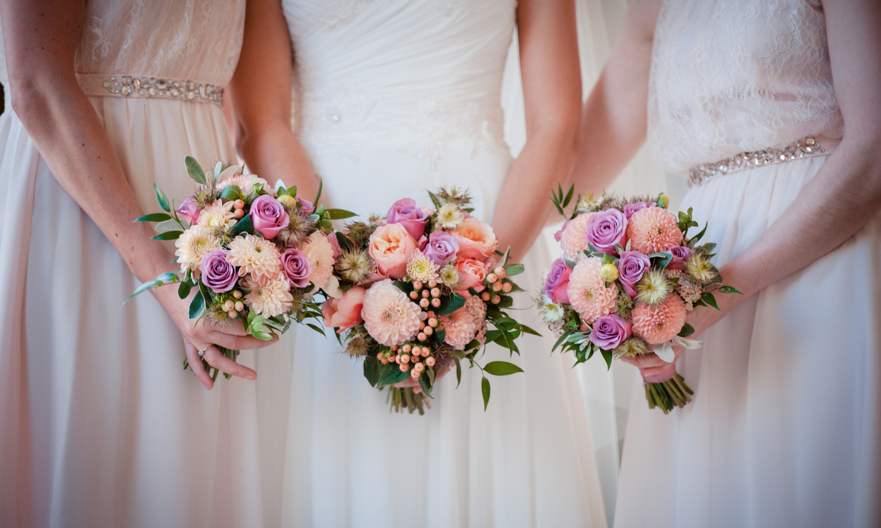 Peaches and Lilac Posies