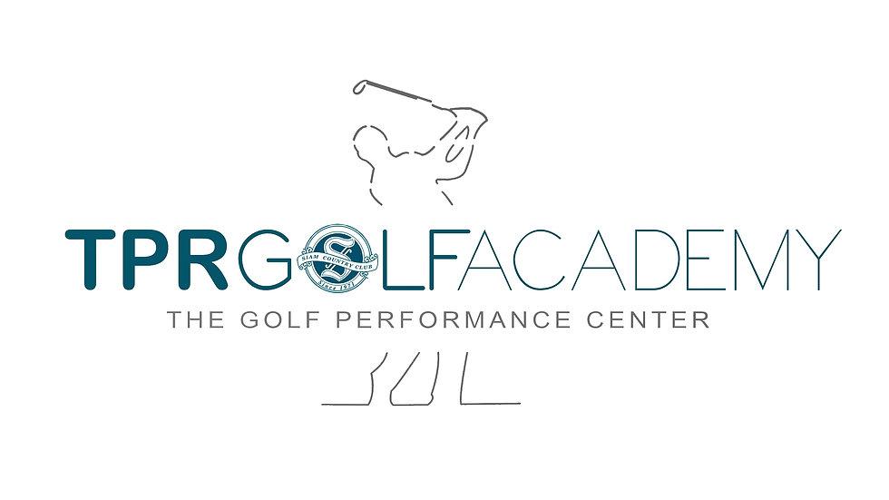 TPR GOLF ACADEMY - GOLFER - logo v.2 blu