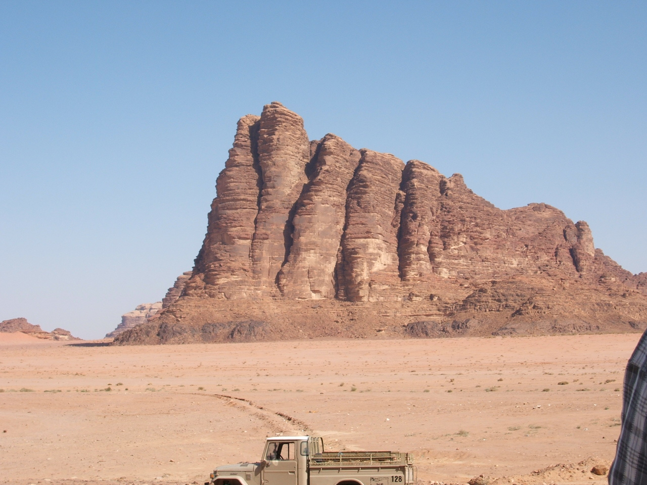 Wadi Rum Approach - Five of the Seven Pillars of Wisdom (Lawrence of Arabia) at the entrance