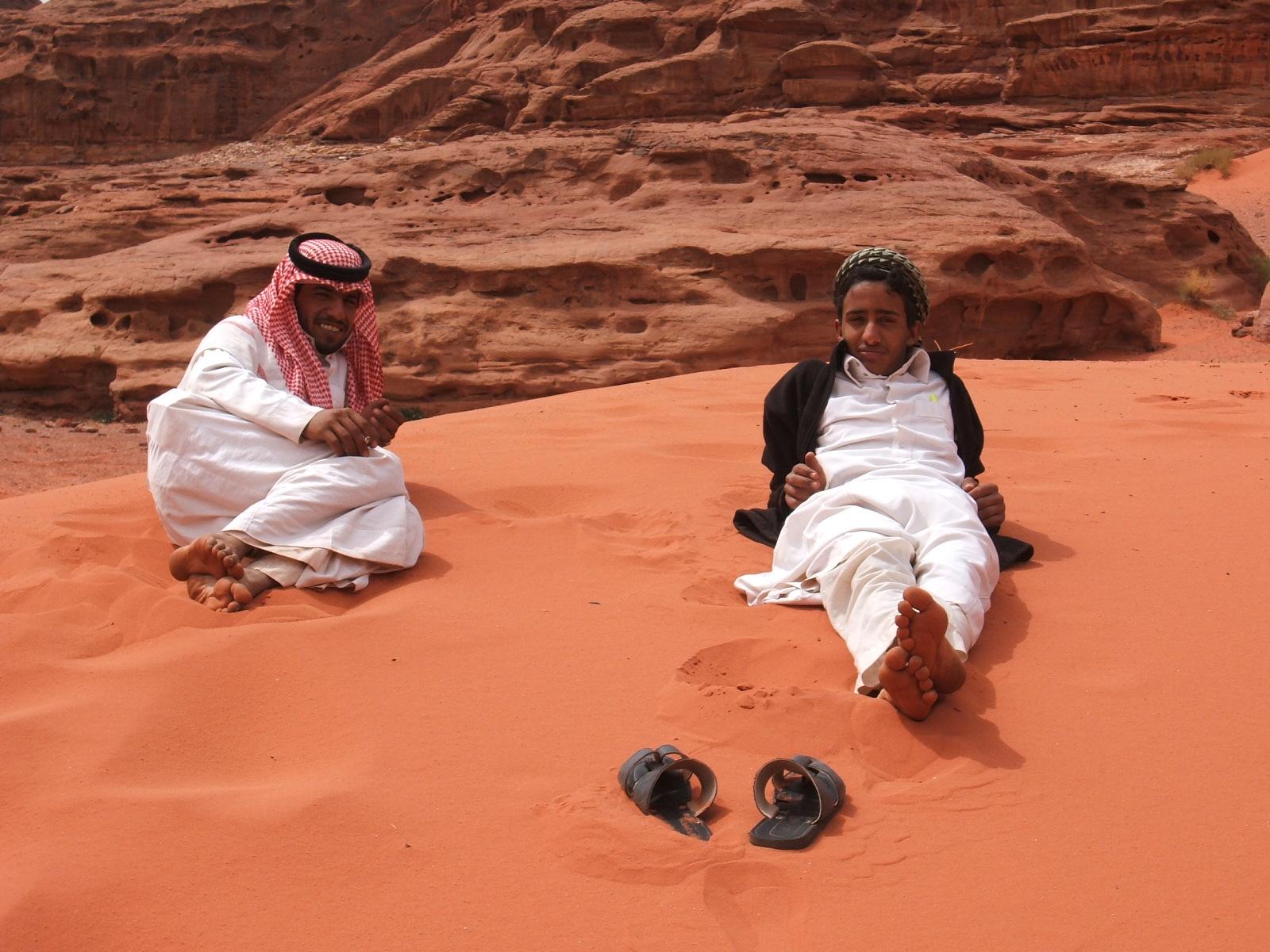 Wadi Rum Bedouins in the Sand