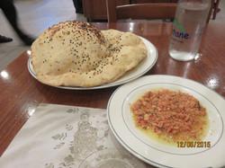Ciya Çökelek and pita bread