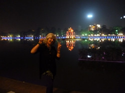 Xmas Eve Hanoi on the lake