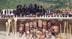 Masks in the Drakensburg