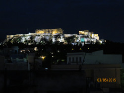 Acropolis by night from hotel