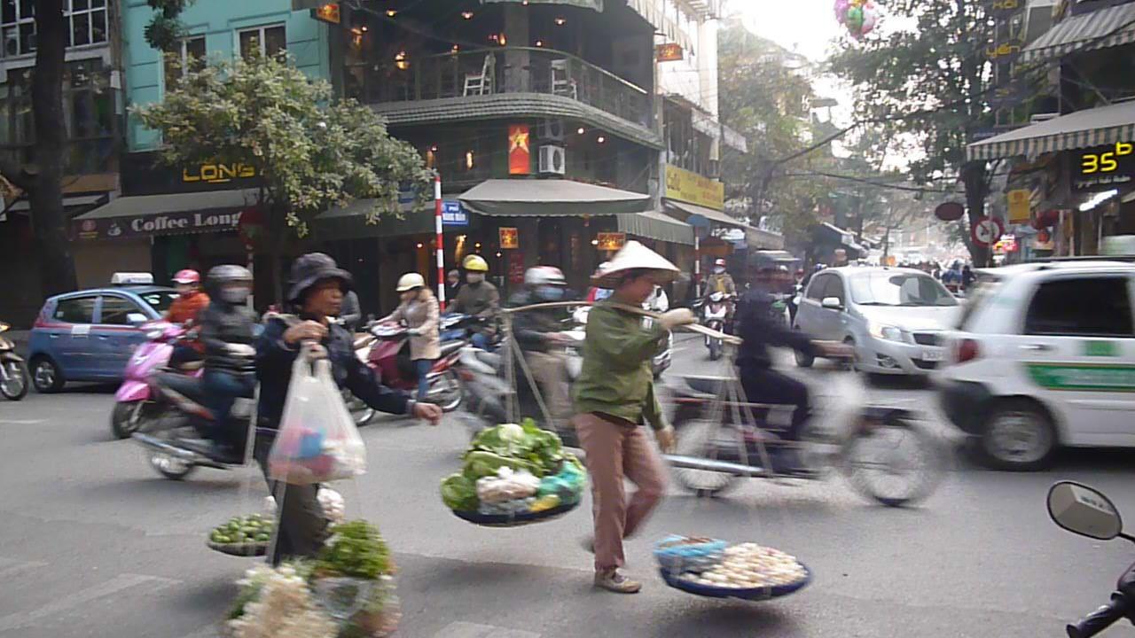 Hanoi Steet sellers