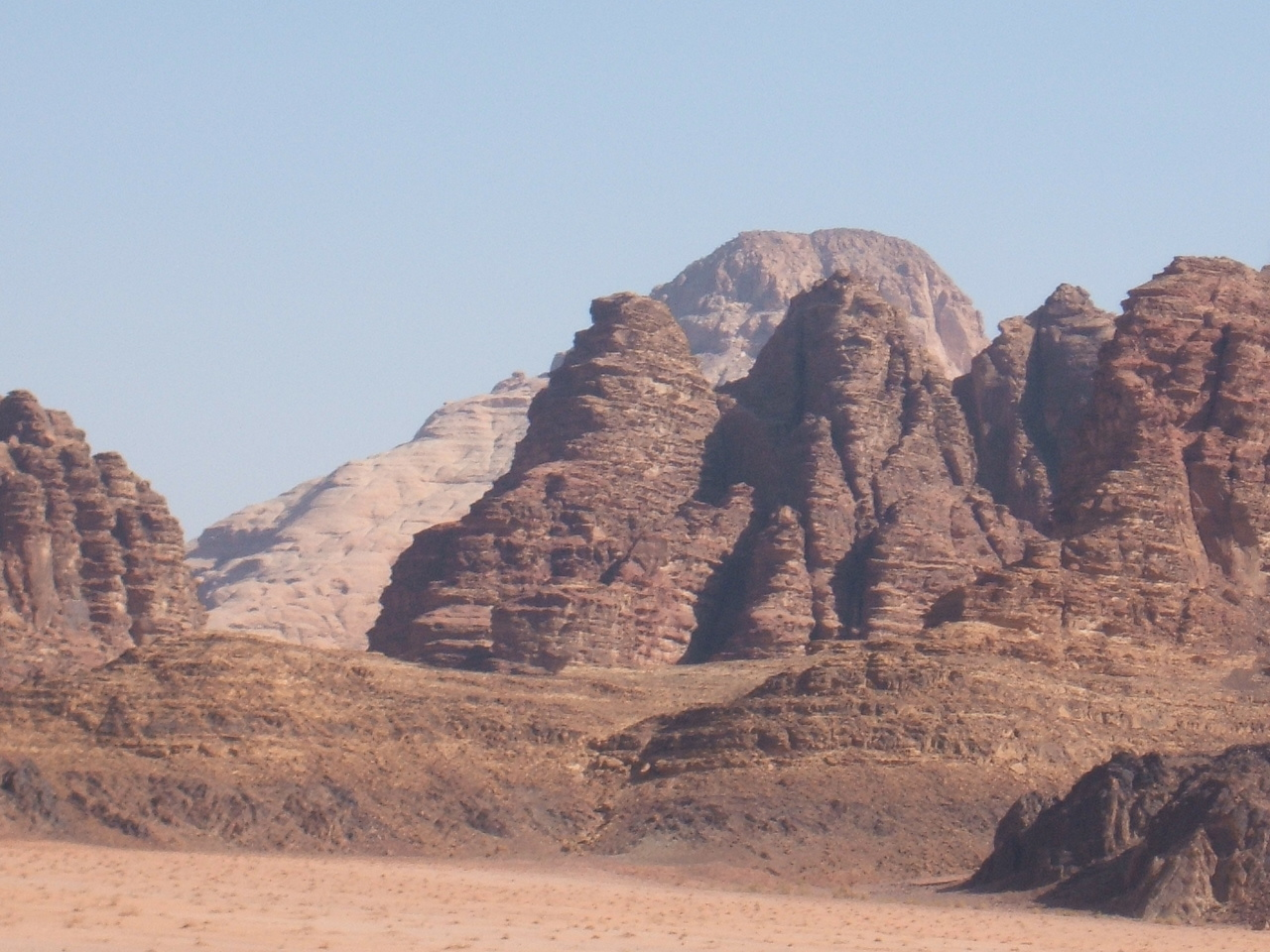 Wadi Rum Approach - what looks like the Sphynx at the entrance