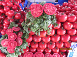 tomatoes and corriander