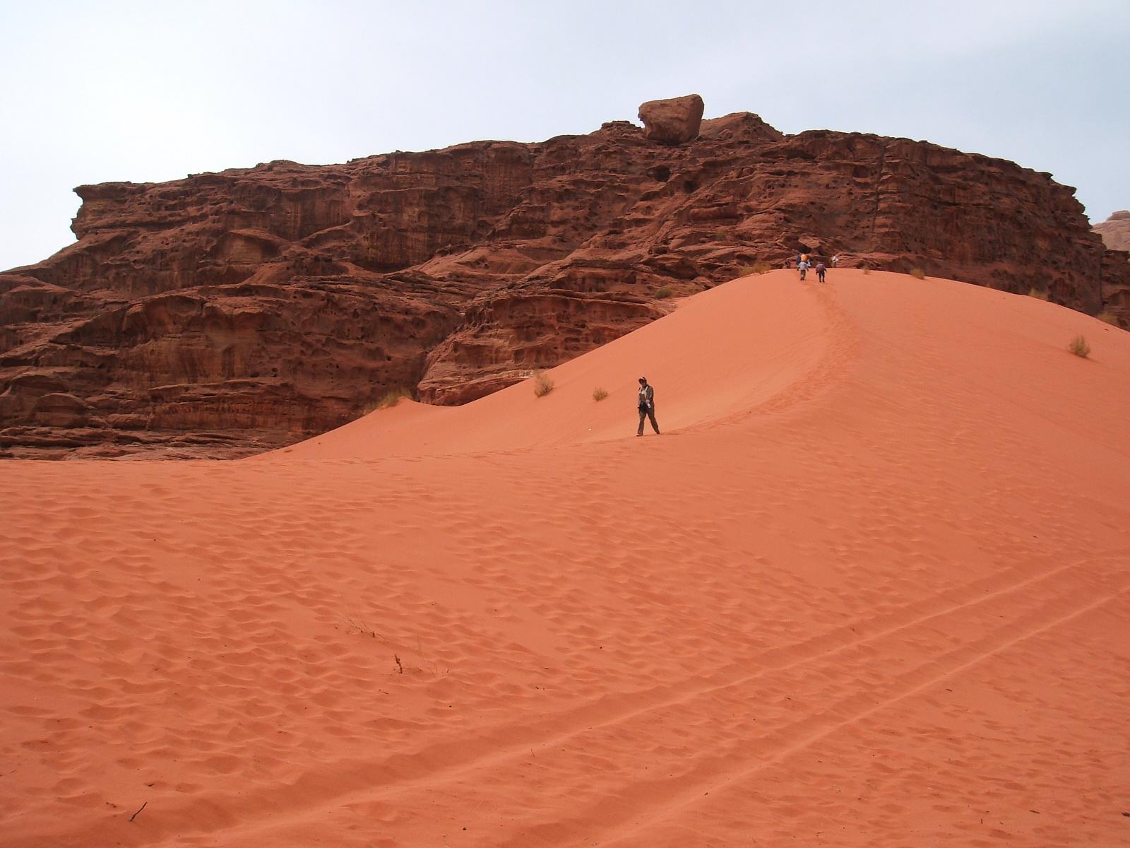 Wadi Rum Only half way up the sand dune