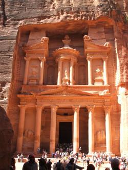 Petra a Siq Treasury at the end of the Siq