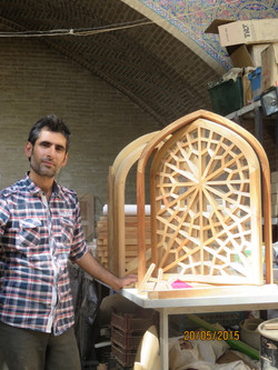 Wood worker in Yazd