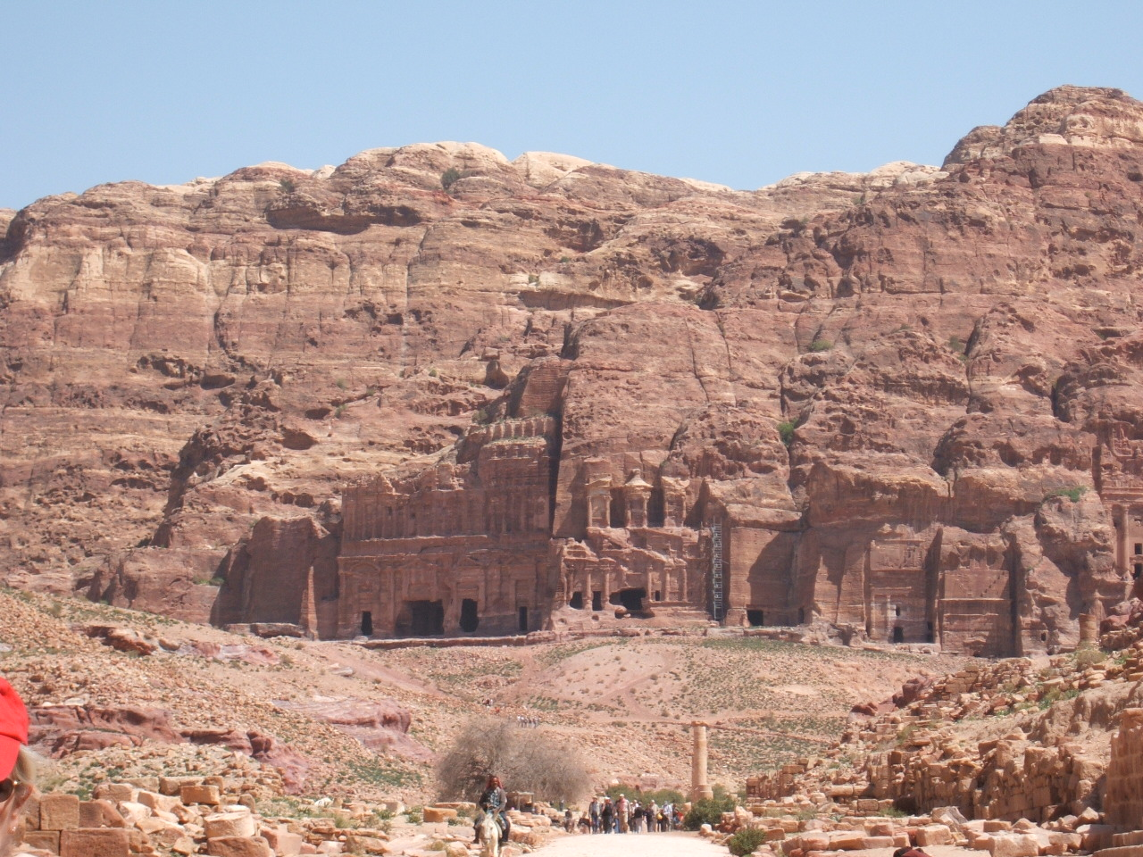 Petra Royal Tombs from the start of the Colonnaded Street