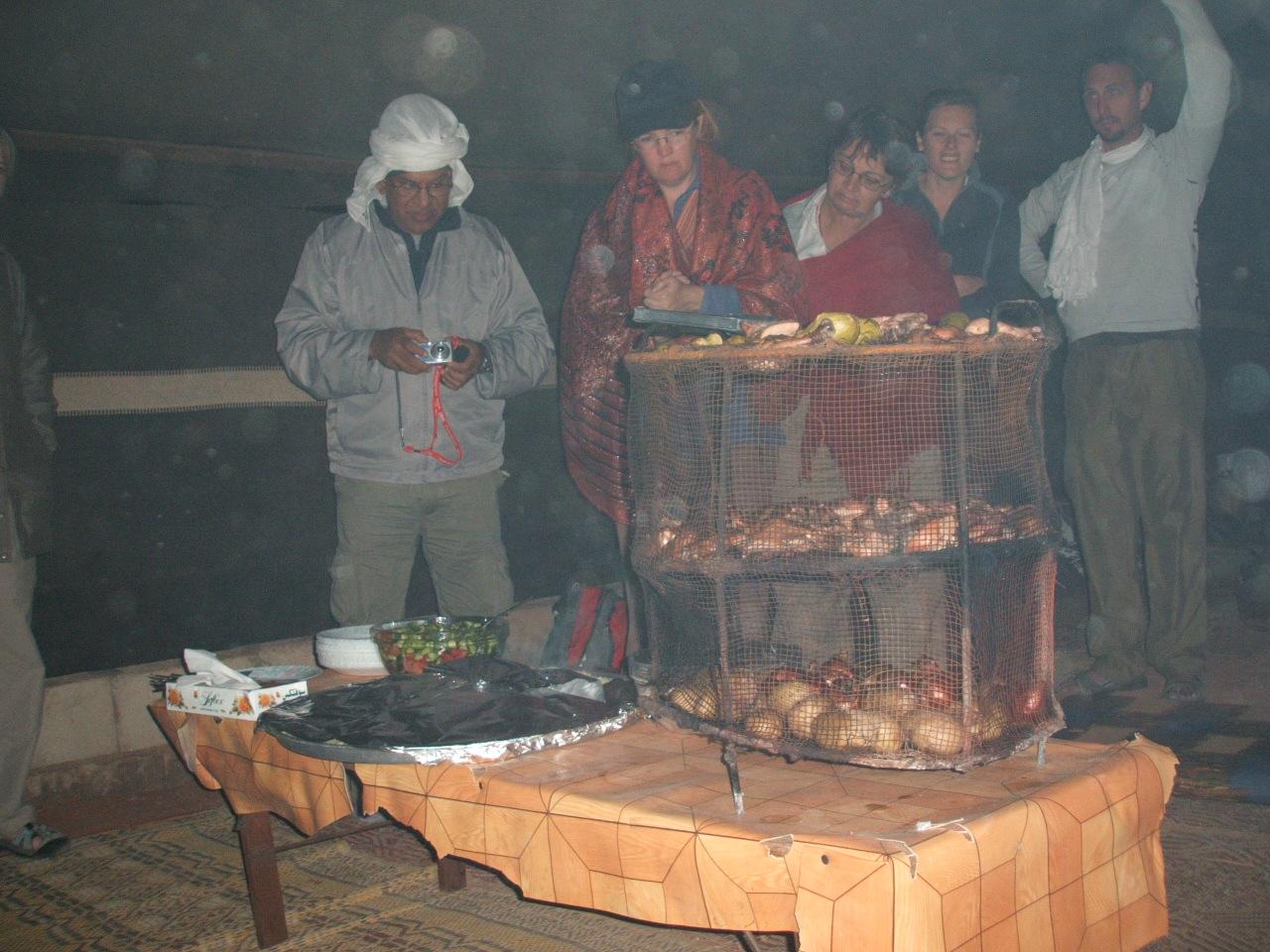 Wadi Rum Bedouin Camp Dinner