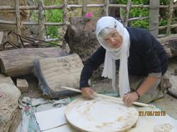 making flat bread