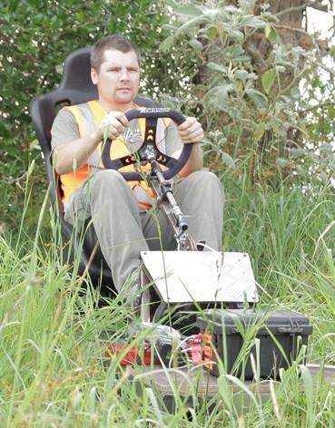 Remote control stunt crash