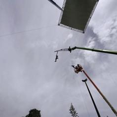 Stunt descender rig