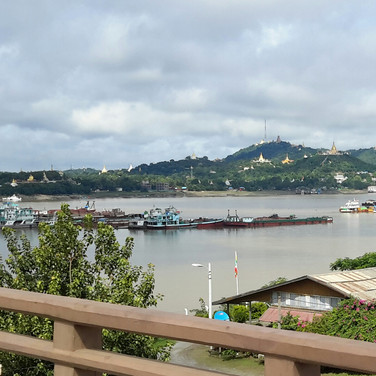 View from the Sagaing Bridge