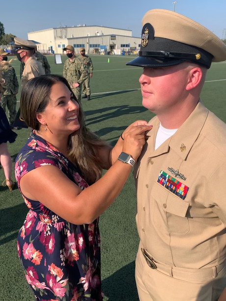 Angela Gunderson, LMH District Manager at Lofgren Terrace, had the honor of pinning her husband as he made Senior Chief last week. Congratulations, Senior Chief, and thank you for your service and sacrifice! Angela, thank you for your dedication as a military spouse and your daily dedication to our military families, you are #Core2OurMission!