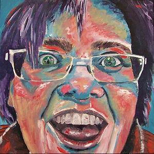 Eileen. Acrylic on Canvas. 24_ x 24_ - V