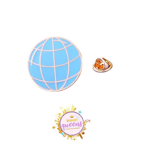 Globetrotter Enamel Pin