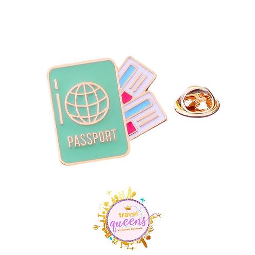Passport Enamel Pin
