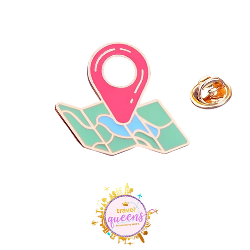 Map Enamel Pin