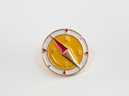 Compass Enamel Pin