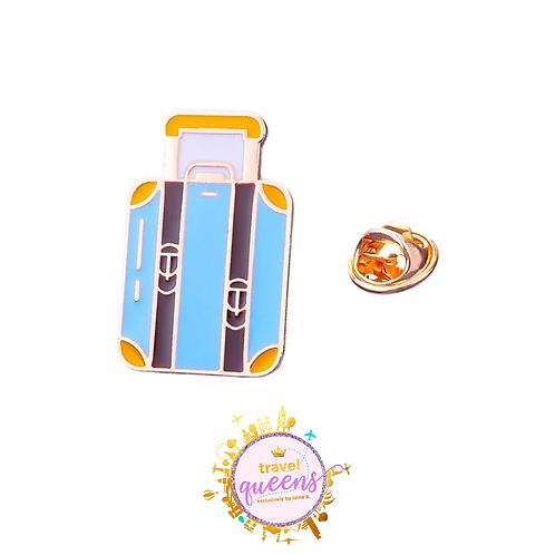 Suitcase Enamel Pin