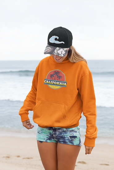 CALIFORNIA SANTA MONICA BEACH PREMIUM HOODIE