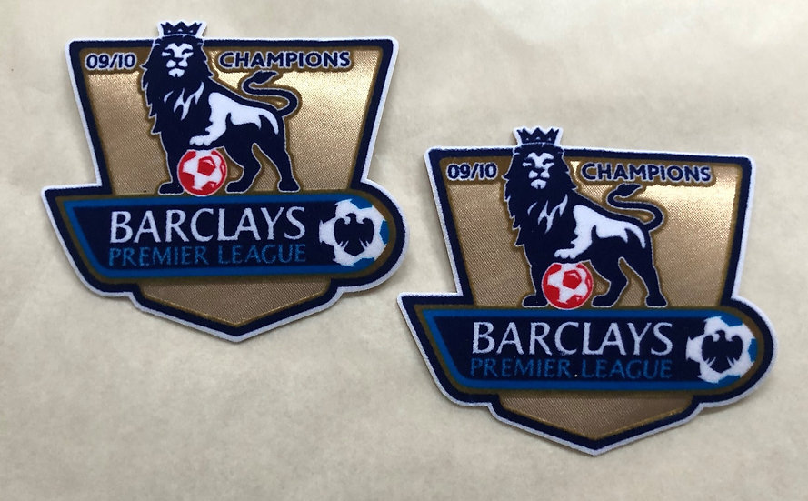 BARCLAYS PREMIER LEAGUE PLAYER ISSUE SLEEVE PATCHES FELT TYPE CHAMPIONS 2009/10