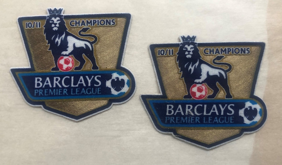 BARCLAYS PREMIER LEAGUE REPLICA ISSUE SLEEVE PATCHES FELT TYPE CHAMPIONS 2010-11