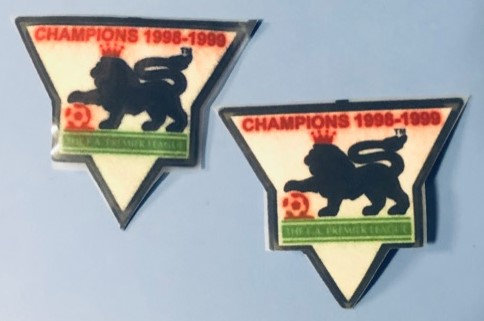 BARCLAYS PREMIER LEAGUE PLAYER ISSUE SLEEVE PATCHES FELT TYPE CHAMPIONS 1998-99